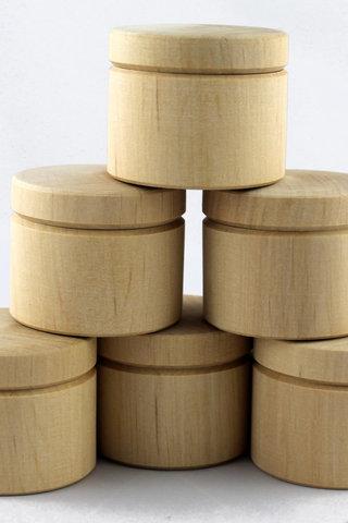 Masse 6 håndlavet ufærdige små trækasser, engros træ håndværk ...